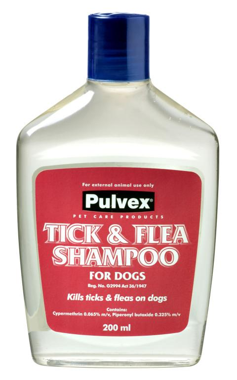 Pulvex Tick & Flea Shampoo 200ml