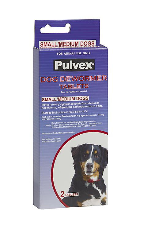 Pulvex Dewormer Dog Small